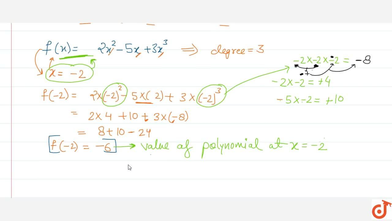 Value of a polynomial