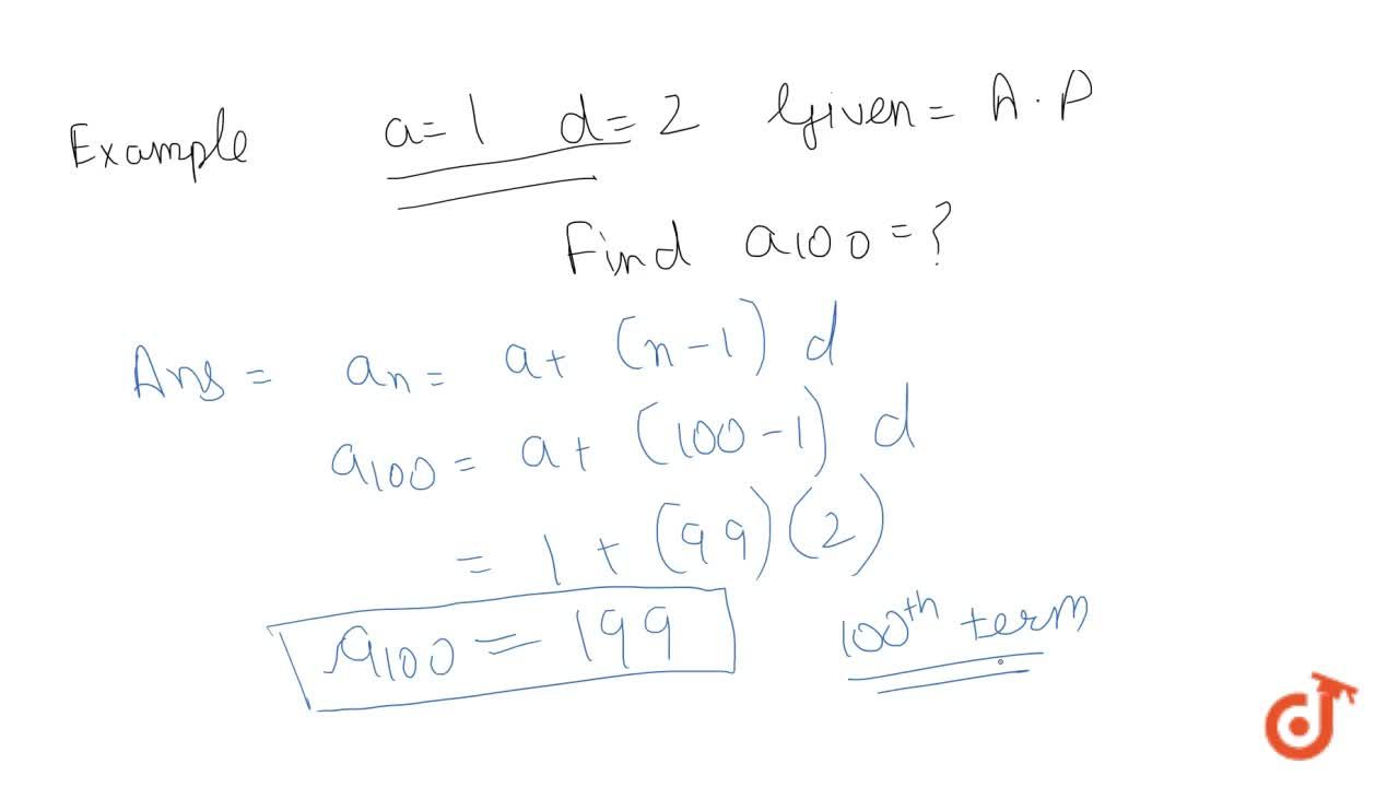 Solution for Theorem:-Let a be the first term and d be the comm