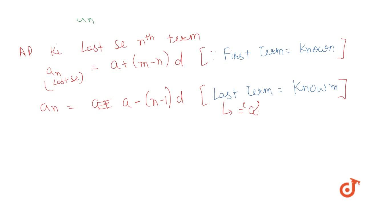 Solution for Find the nth term of an AP from the end