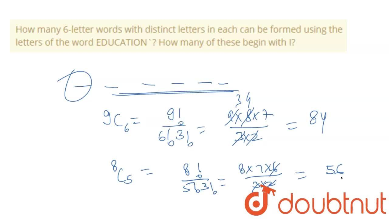 Solution for How many 6-letter words with distinct letters in e
