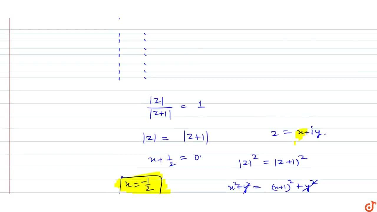 If n is a positive integer greater than unity z is a complex number satisfying the equation z^n=(z+1)^n, then