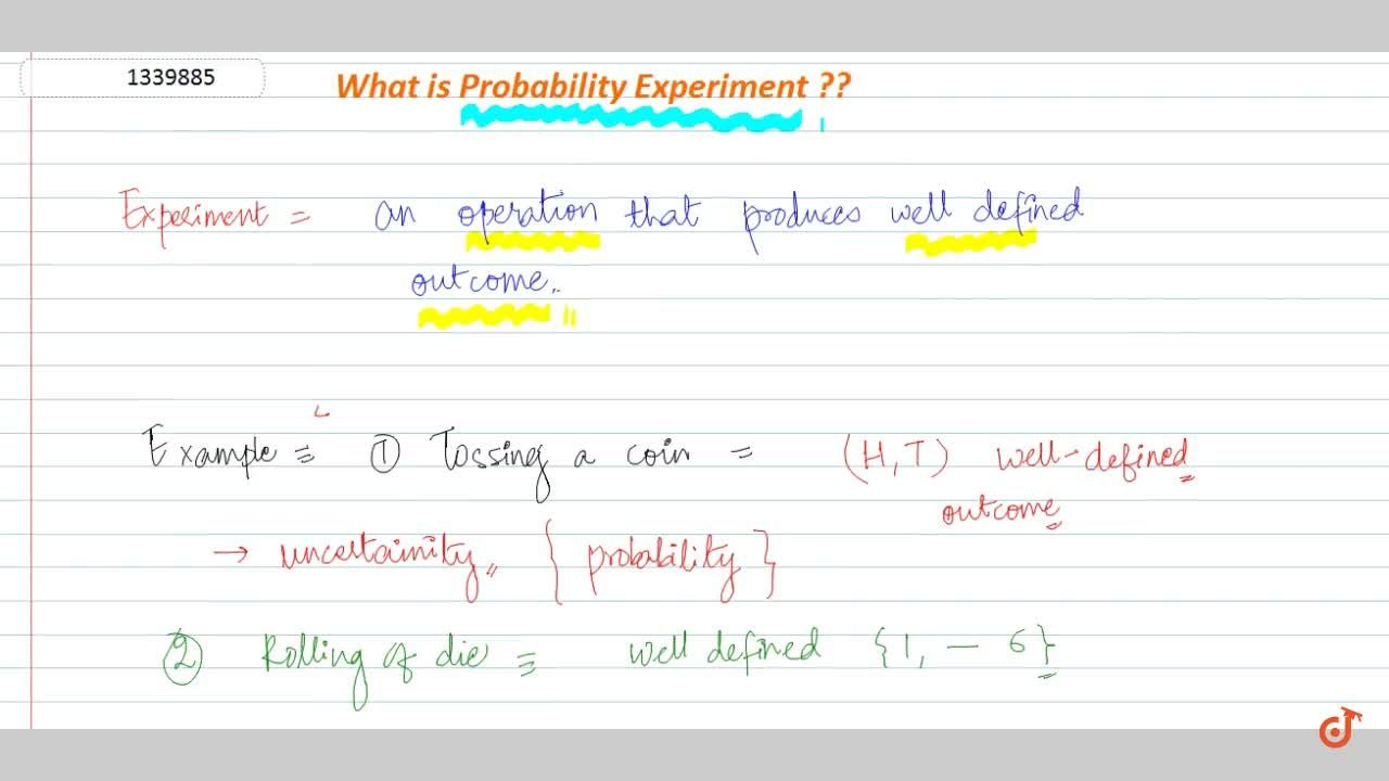 Solution for What is probability experiments :