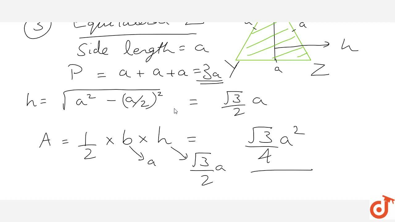 Solution for Area and Perimeter of Rectangle; square and triang