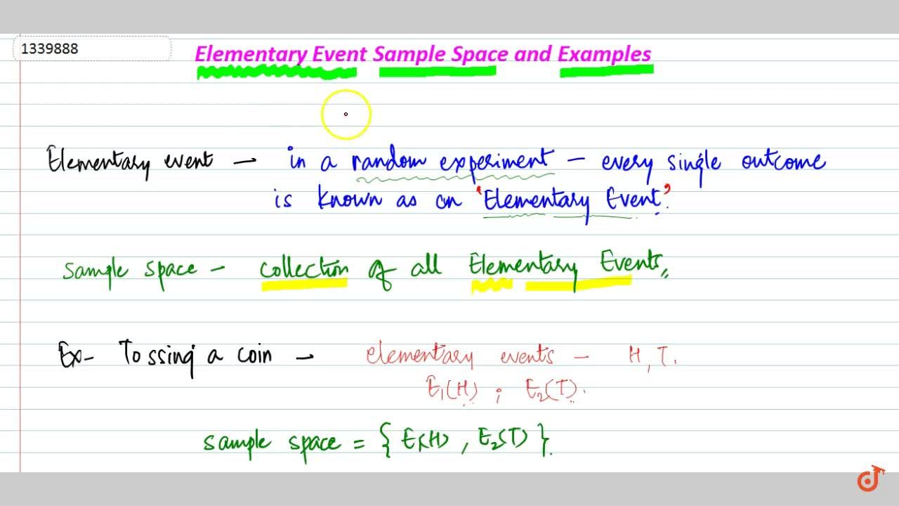 Elementary event sample space and examples