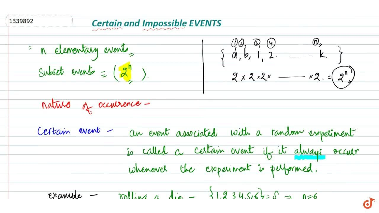 Certain event and impossible event