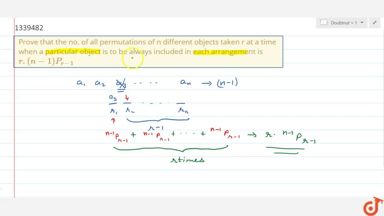 Solution for Prove that the no. of all permutations of n differ