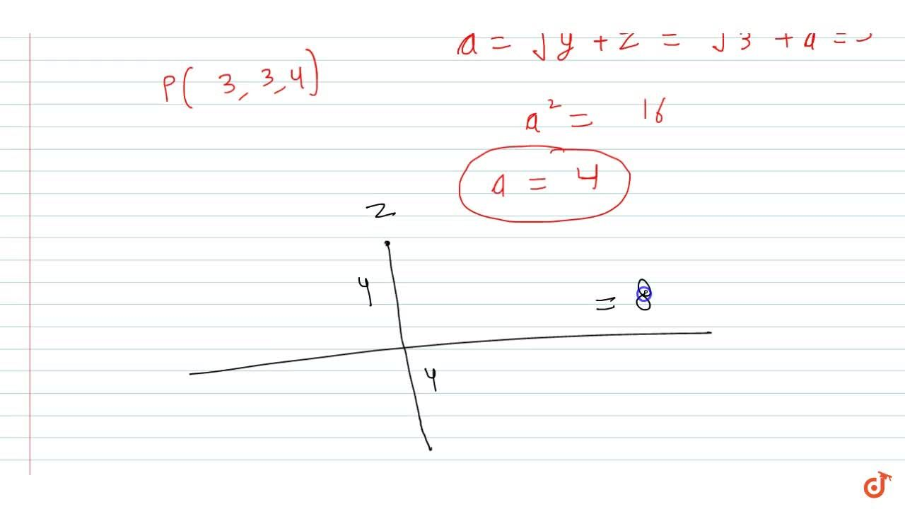 Solution for Let P be a point   in the first octant, whose i