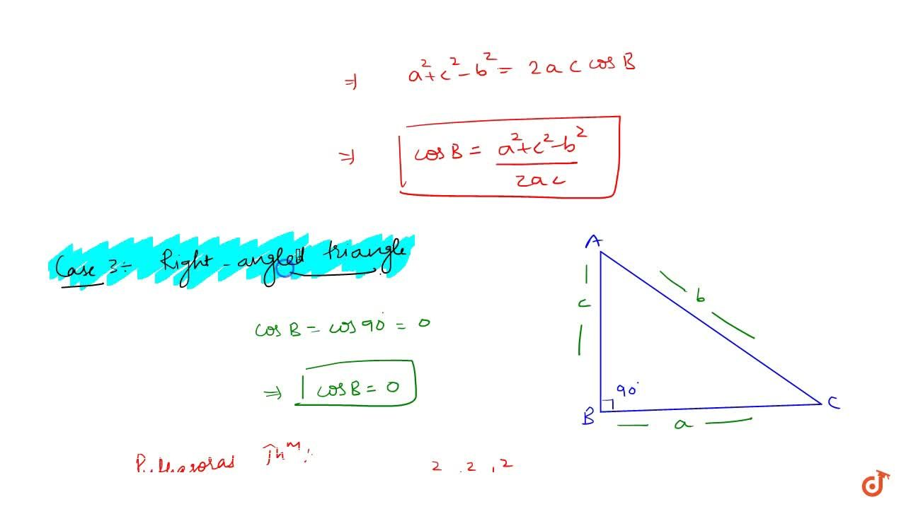 Solution for The law of cosines proof :
