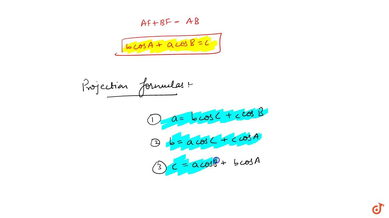 Solution for In Delta ABC prove that (i)a=bcosC+c cosB (ii)