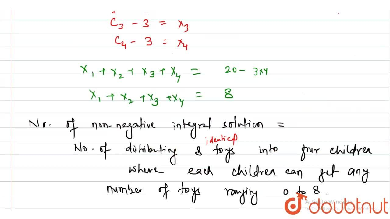 Solution for In how many ways can 20 identical toys be distribu