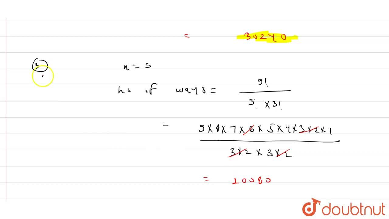Solution for (i) Find the number of different words formed by u