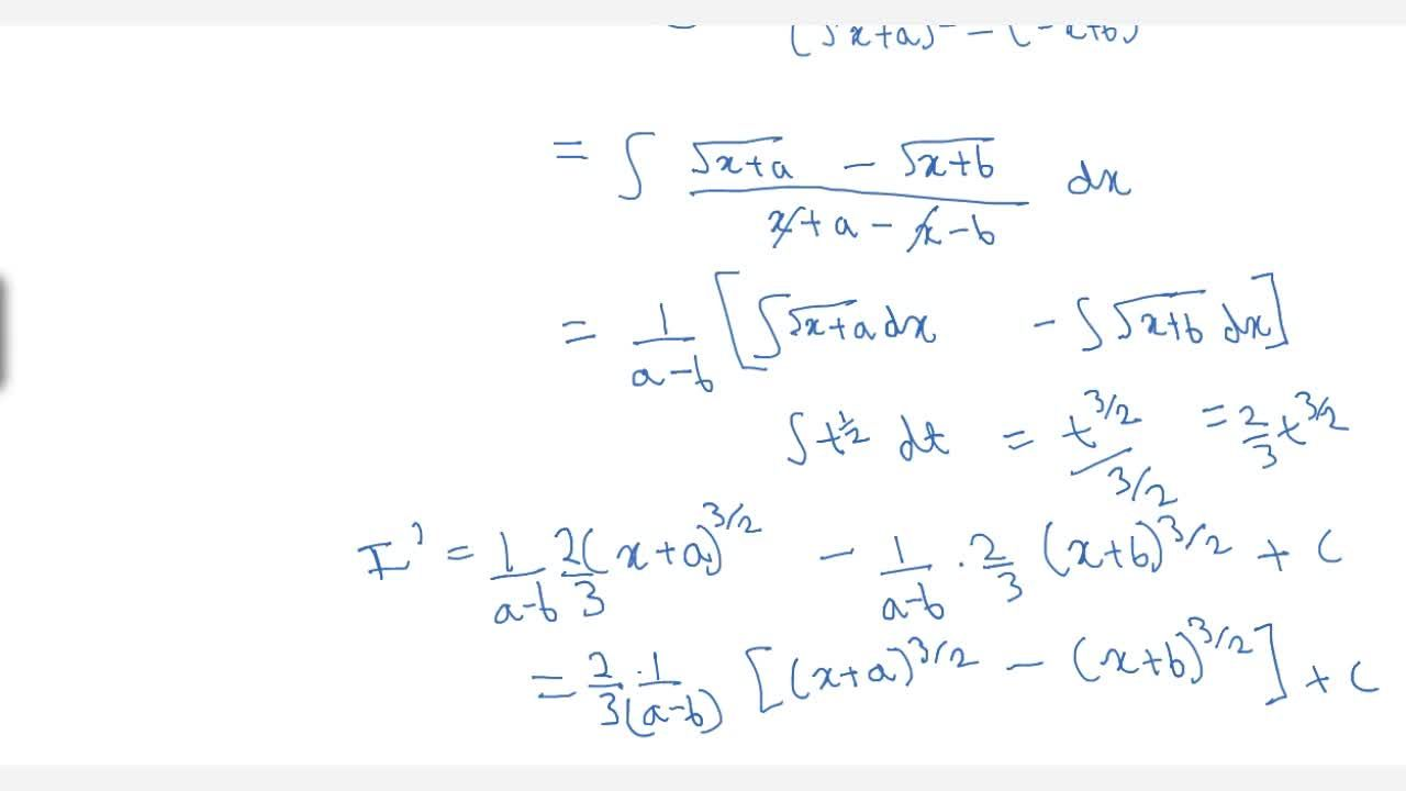 Solution for Examples: 1, (cos3x+1) dx and 1,((sqrt (x+a) +