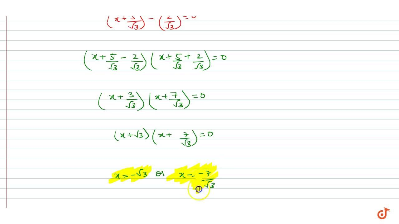 Solution for Using the method of completing the square find roo