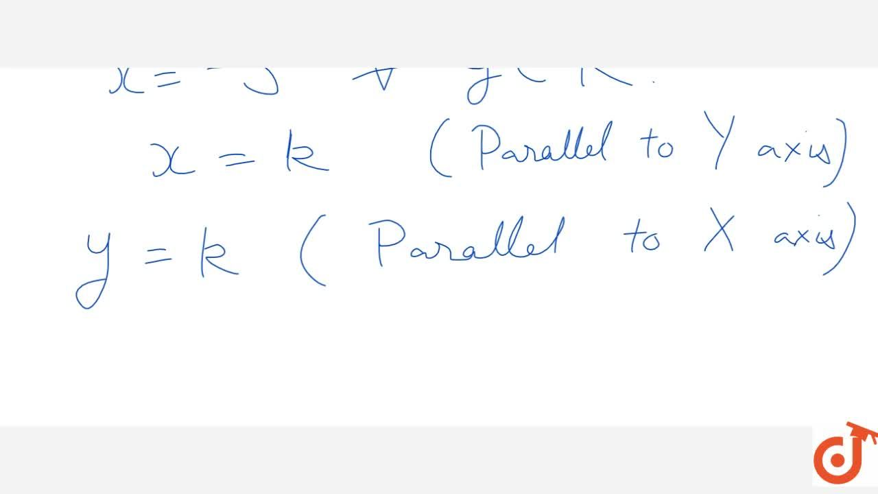 Solution for Equation of line parallel to X-axis and Y-axis
