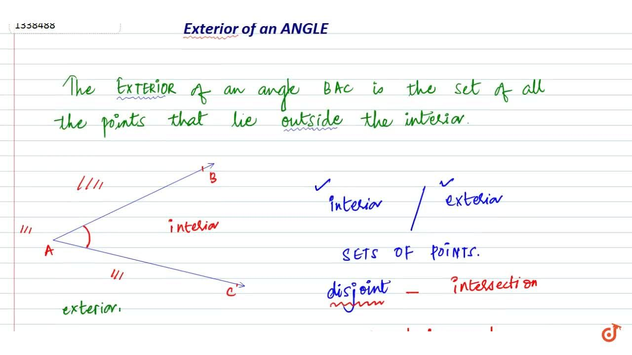 Exterior of an angle