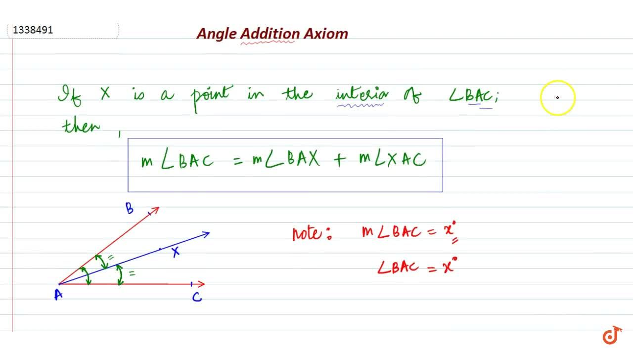 Solution for Angle Addition Axiom