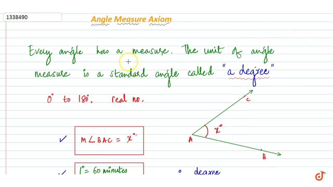 Solution for Angle Measure Axioms
