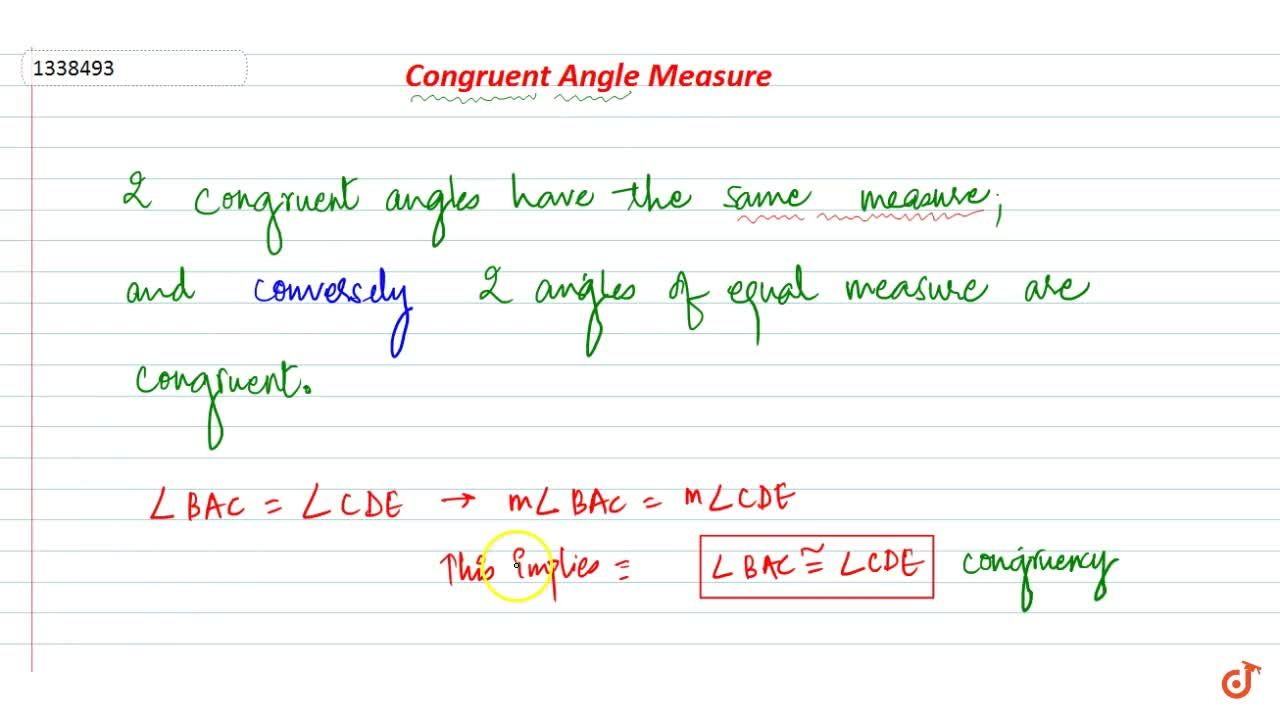 Solution for Congruent Angle Measure