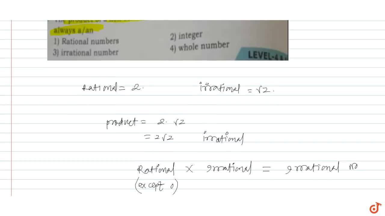 Solution for The product of a non-zero rational number with an