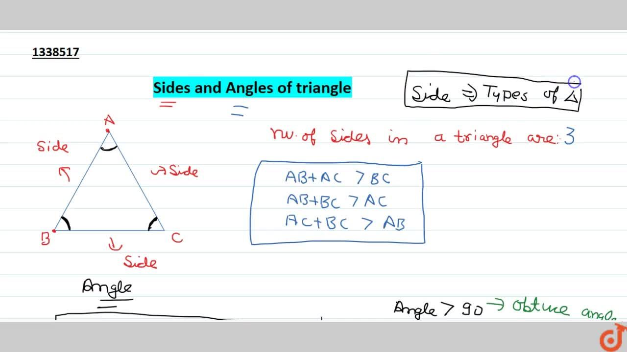 Sides and Angles of triangle