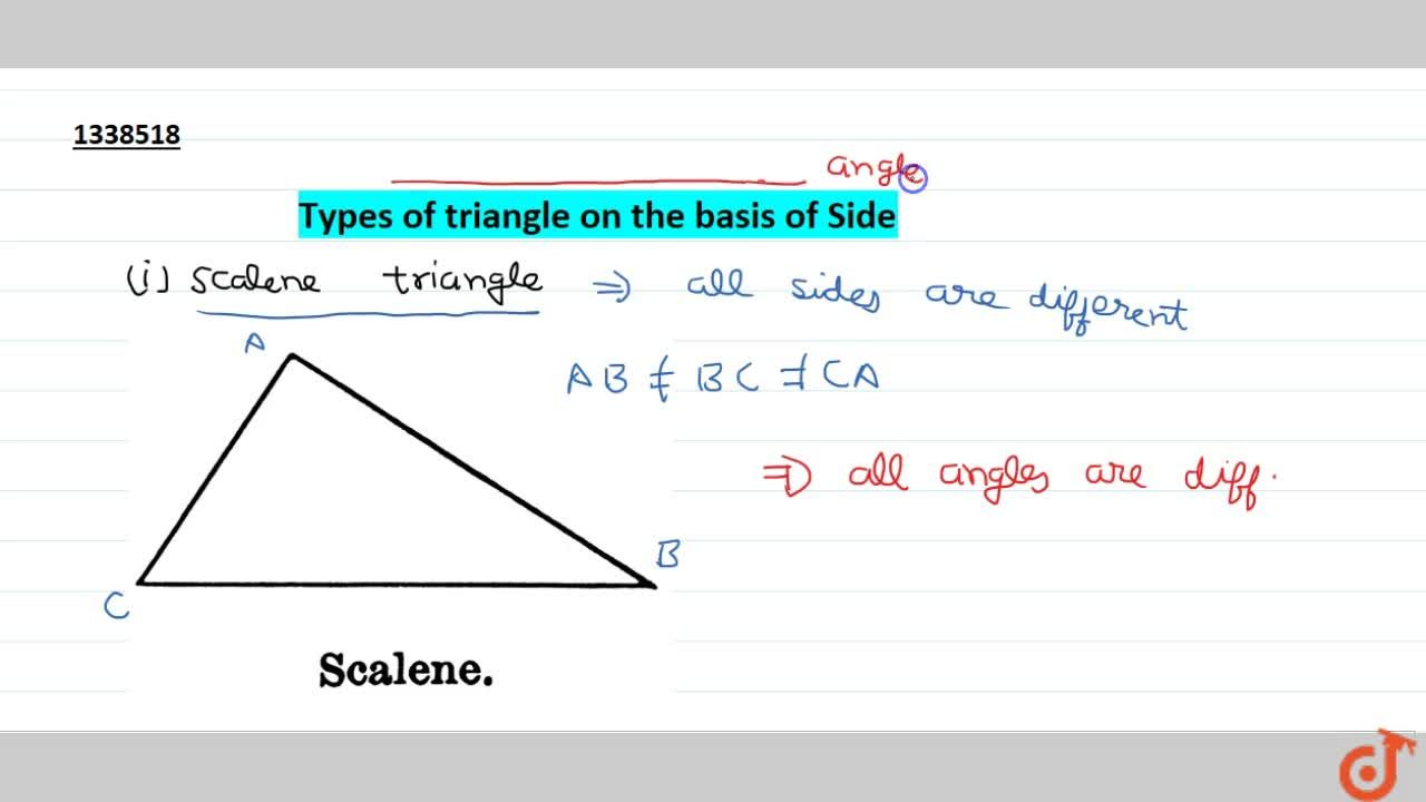 Solution for Types of triangle on the basis of Side