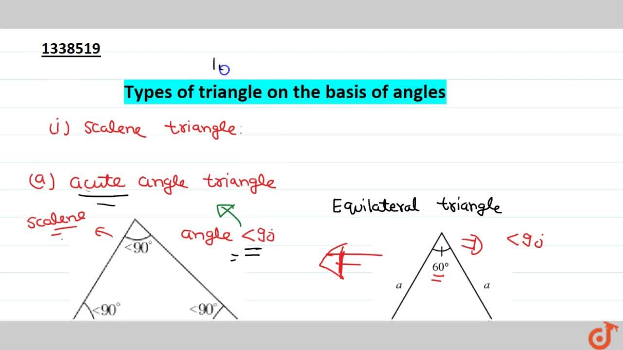 Types of triangle on the basis of angles