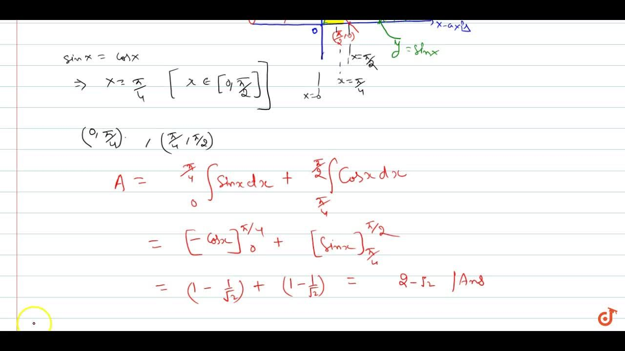 Solution for Find the area of the region enclosed by curves  y