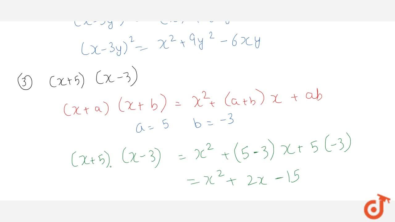 Solution for Expand each of the following (i) (2x+5y)^2 (ii)
