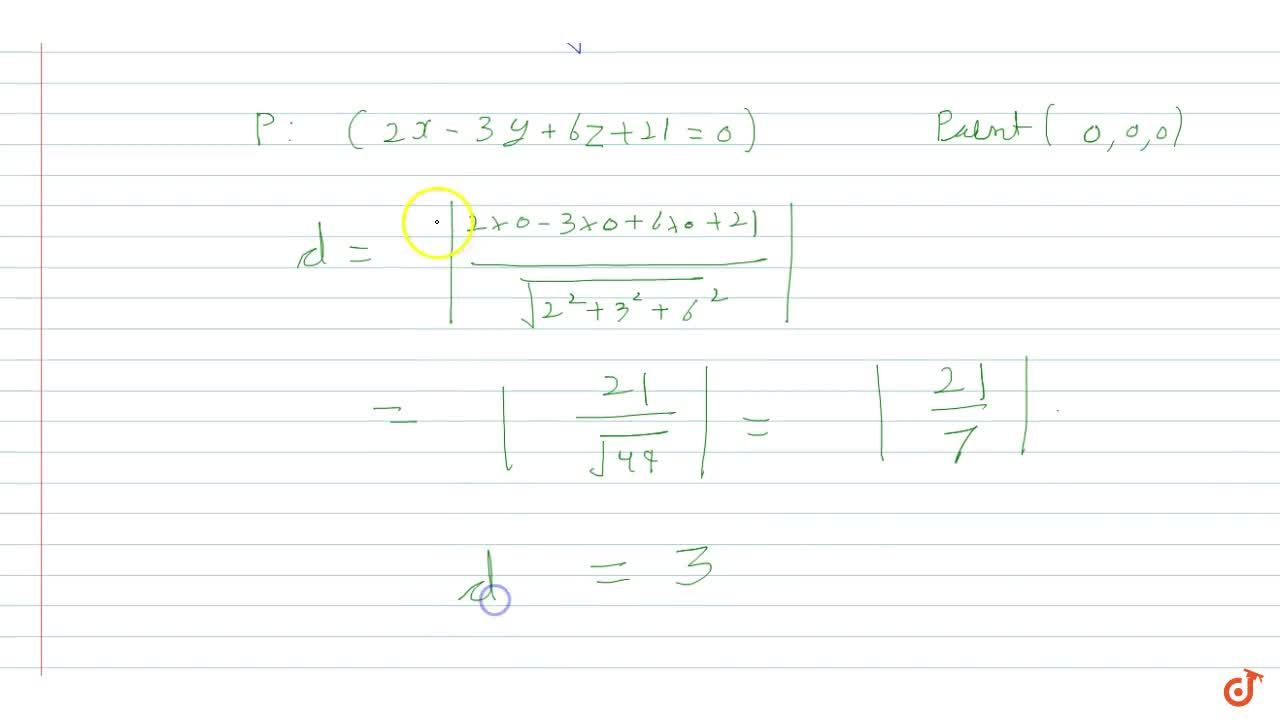 Find the length of the perpendicular drawn from