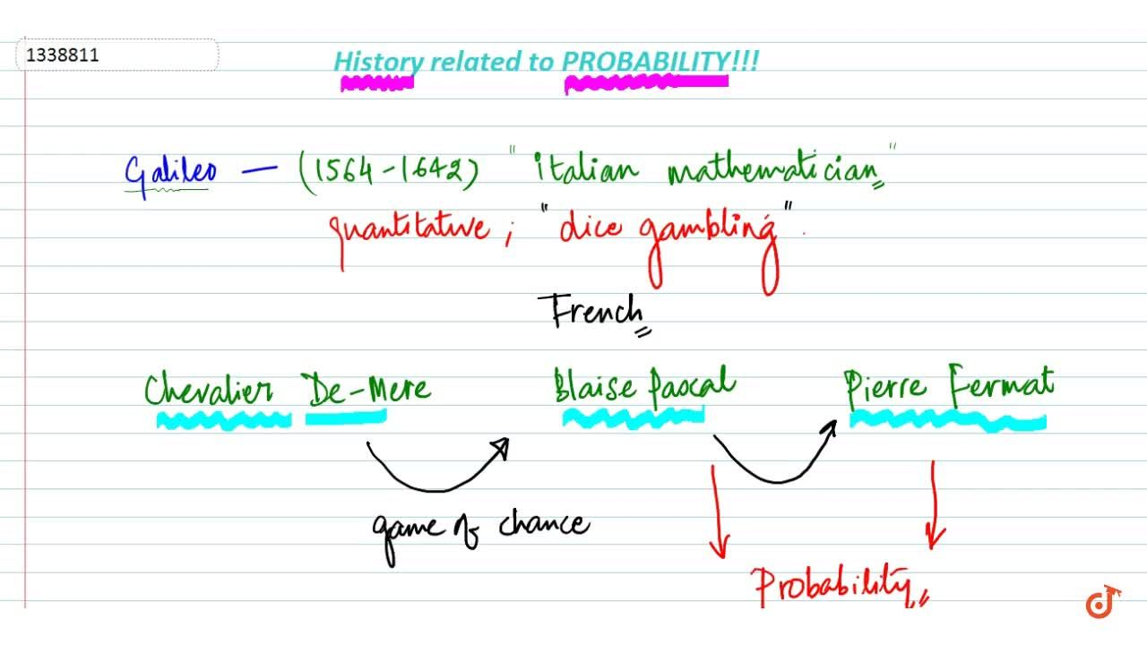 Solution for History related to probability