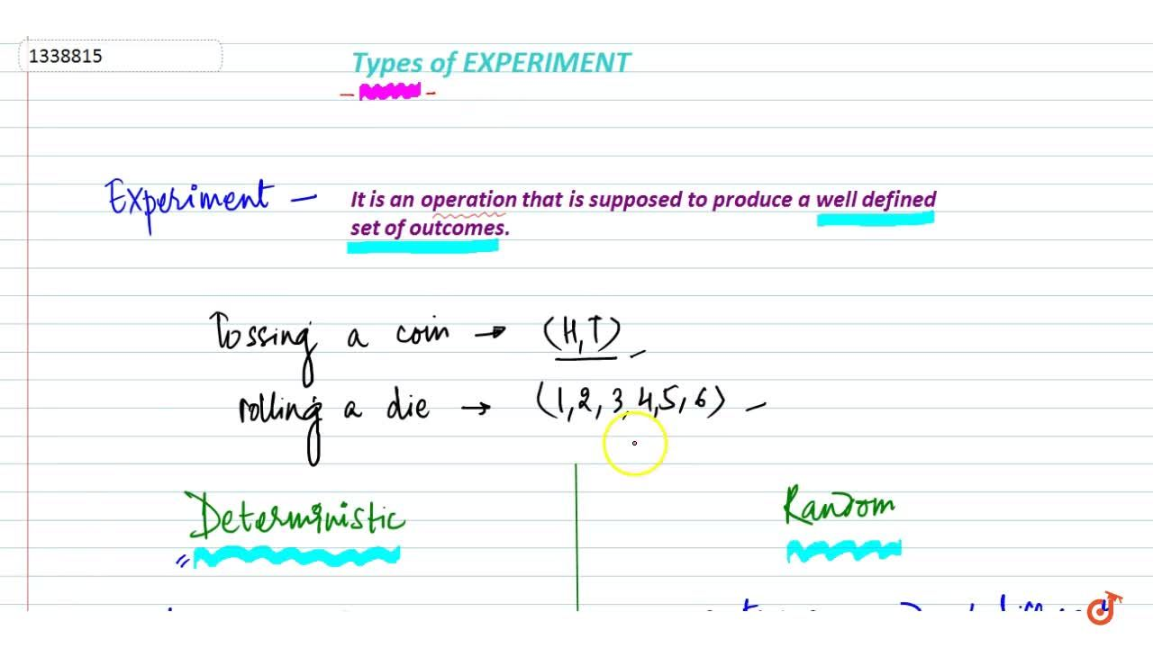 Solution for Types of experiment