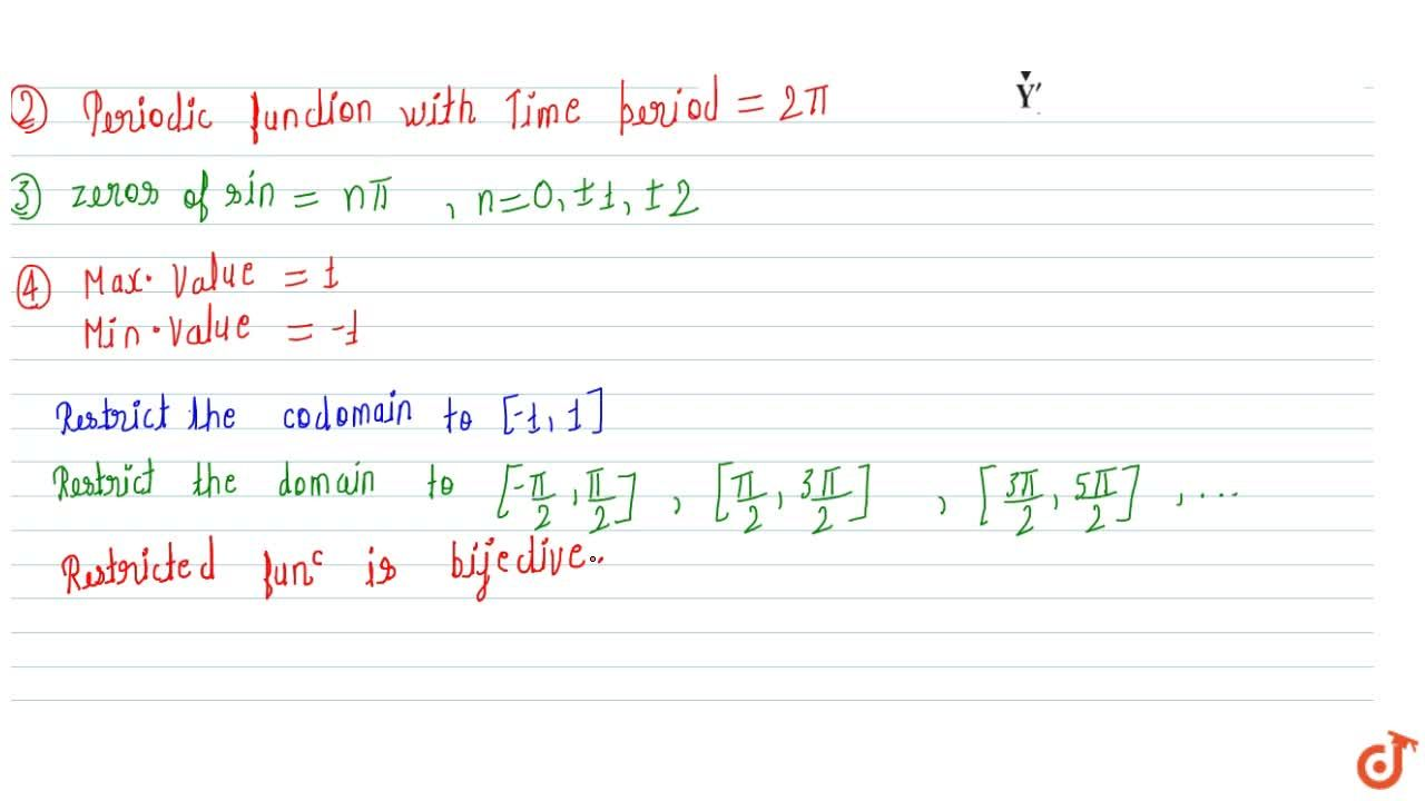 Solution for sine function and imp. observations