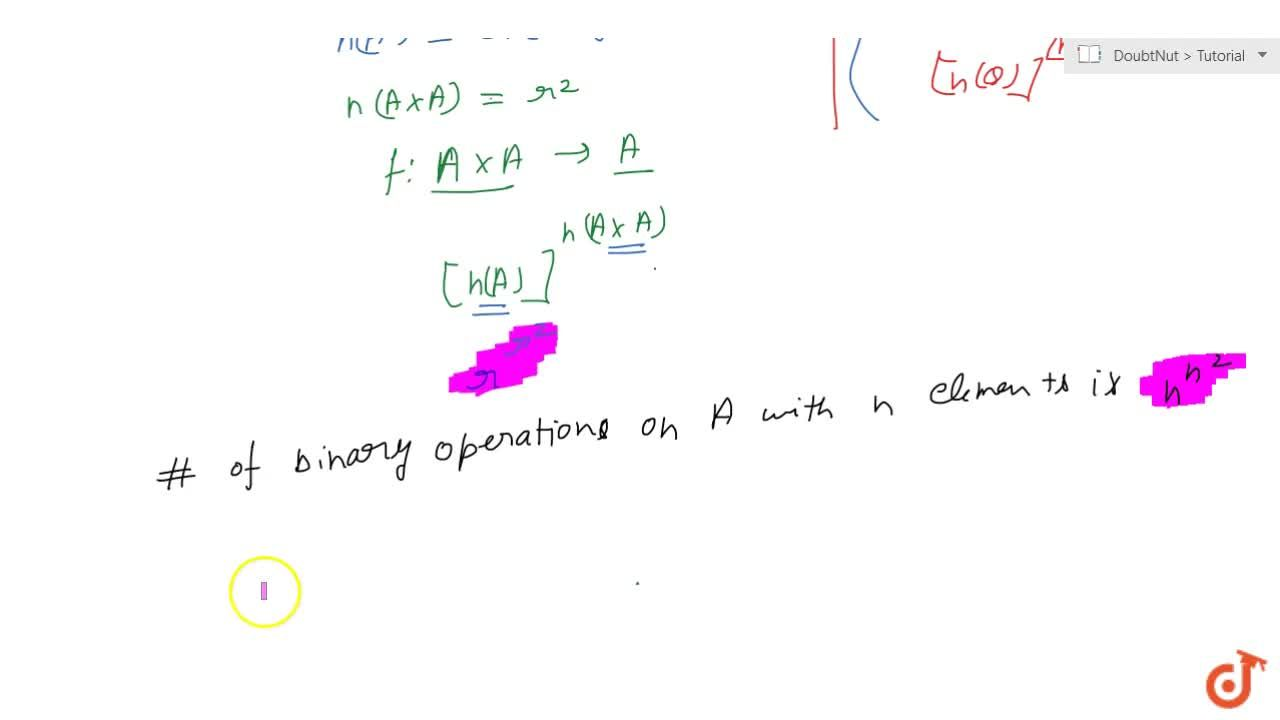 Solution for Number of binary operations