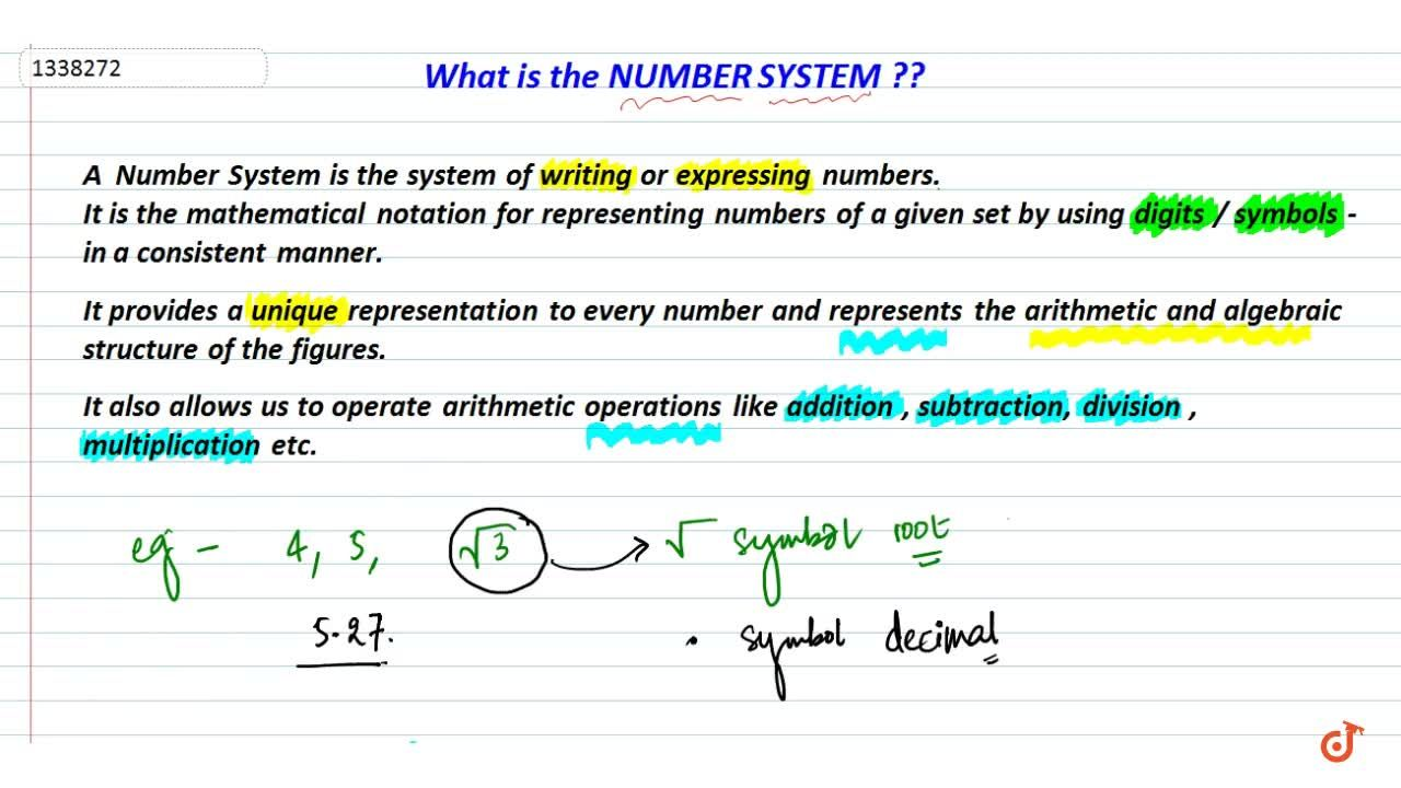 What is number system?