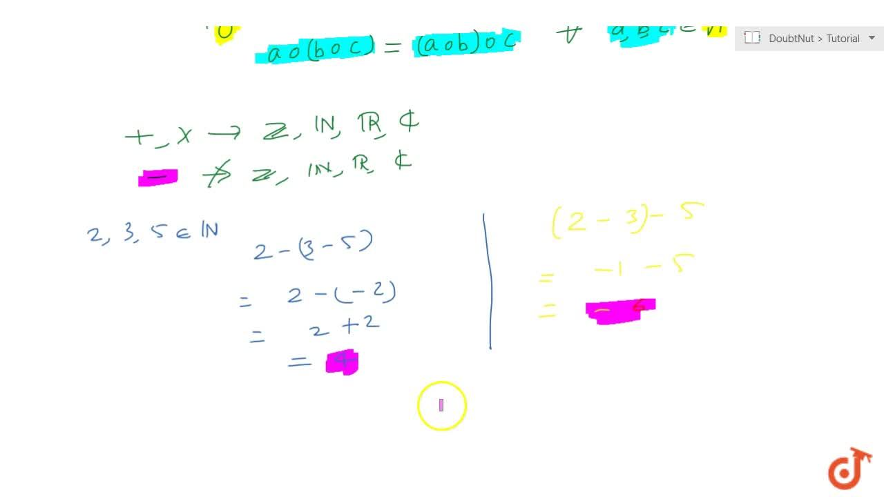 Solution for Associativity of binary operations