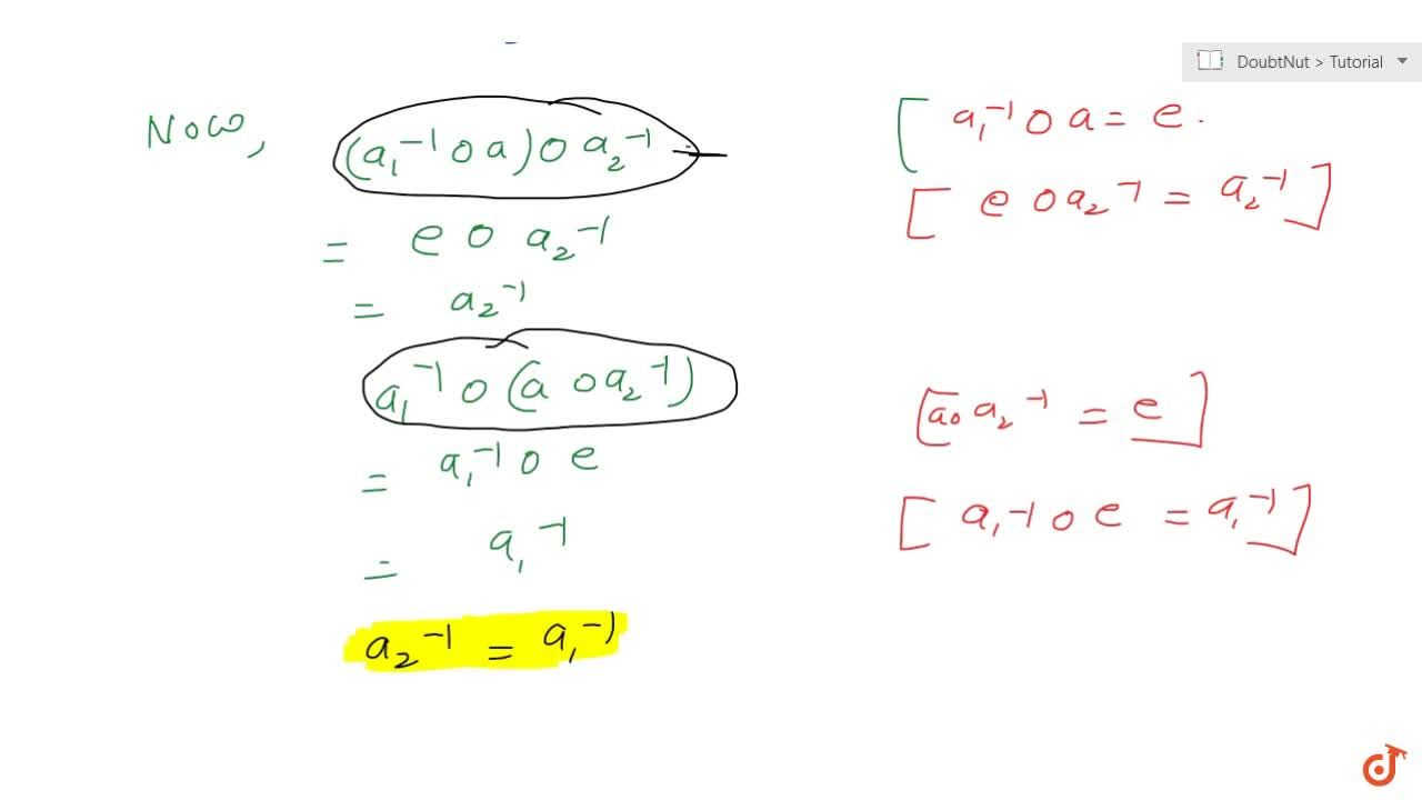 Solution for Let * be an associative binary operation on a set