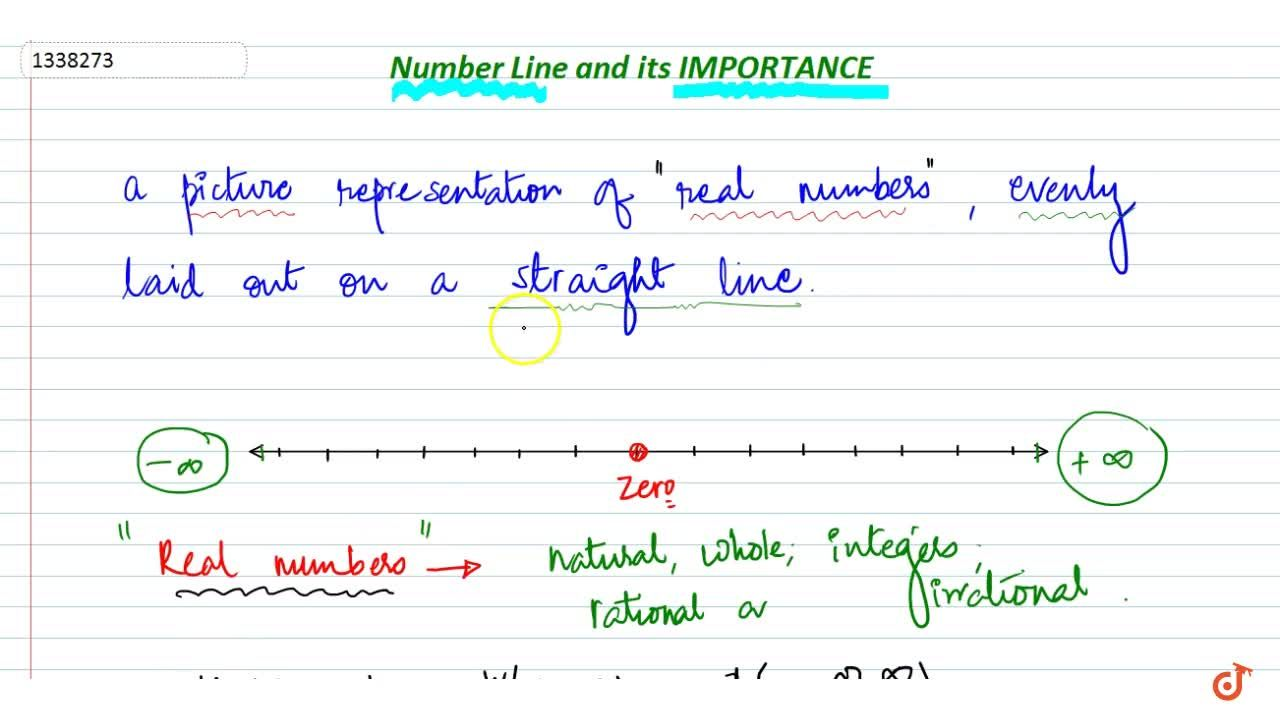 Number line and Its importance