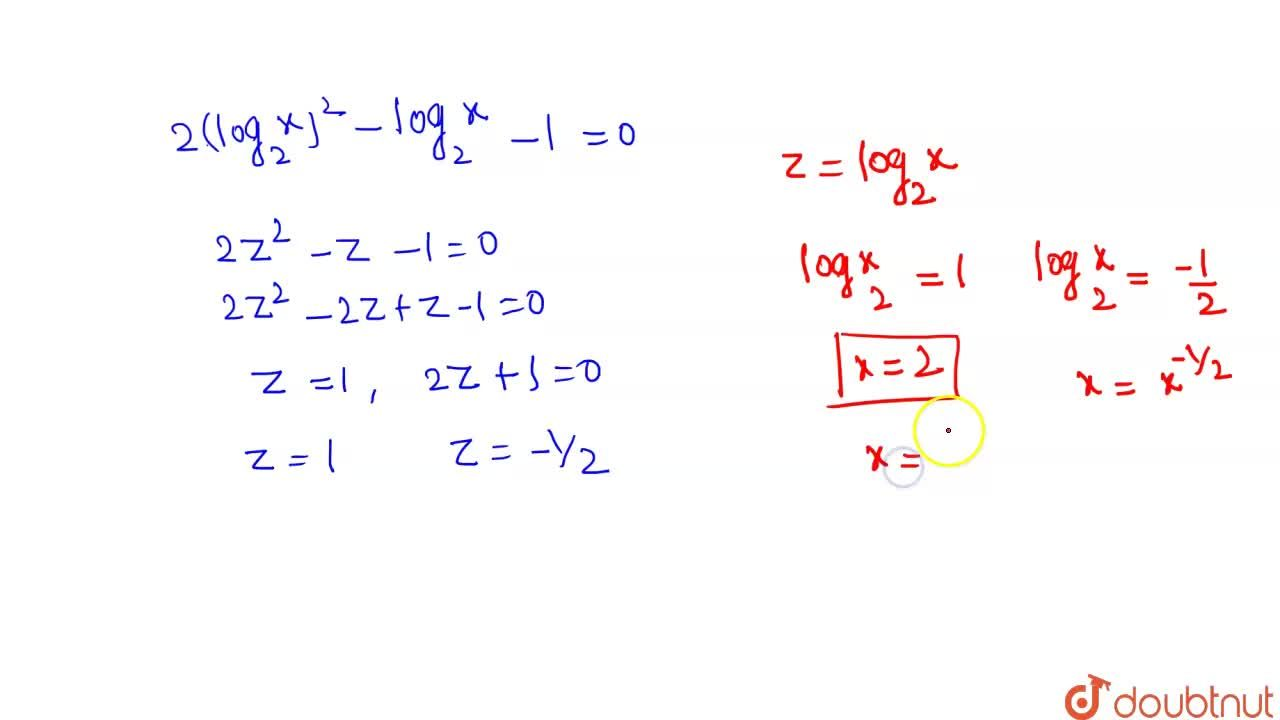 "If 9^(""log""_3(""log""_(2) x)) = ""log""_(2)x - (""log""_(2)x)^(2) + 1, then x ="