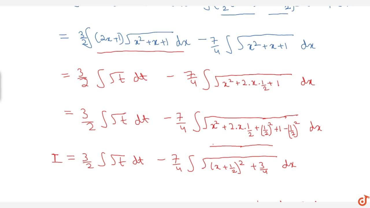 Solution for Examples: int(3x -2) sqrt( x^2 +x+1) dx