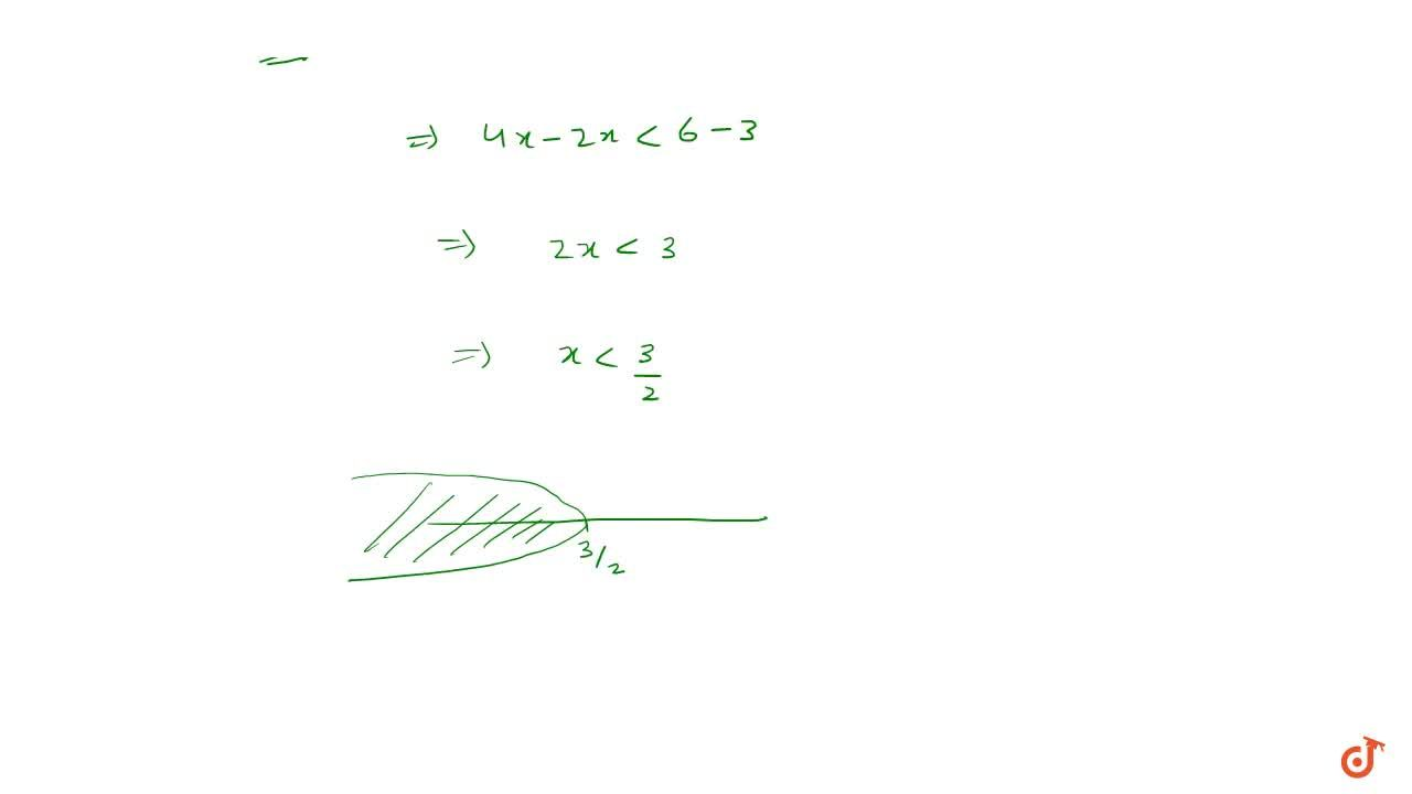 Solution for Solving linear inequation in one variable