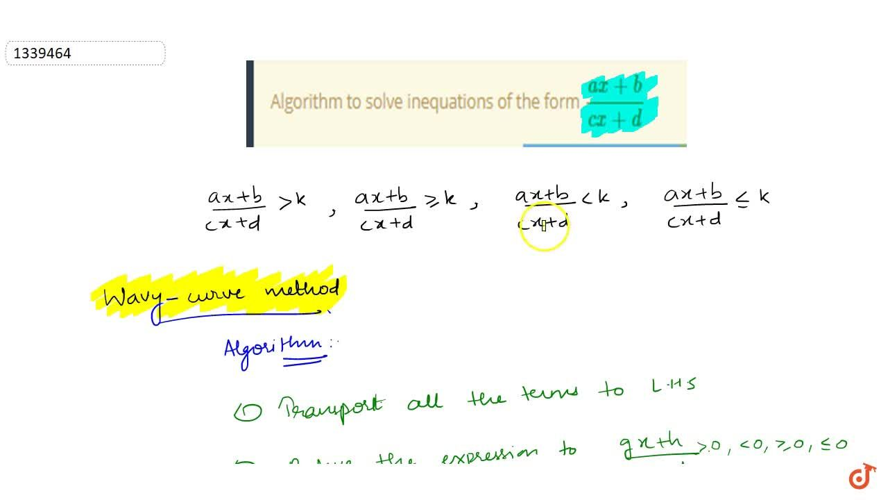 Solution for Algorithm to solve inequations of the form (ax+b)
