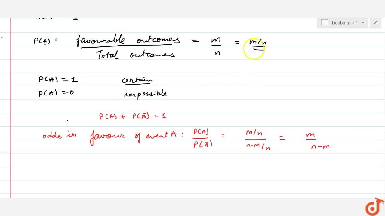 Solution for Probability of an event: definition