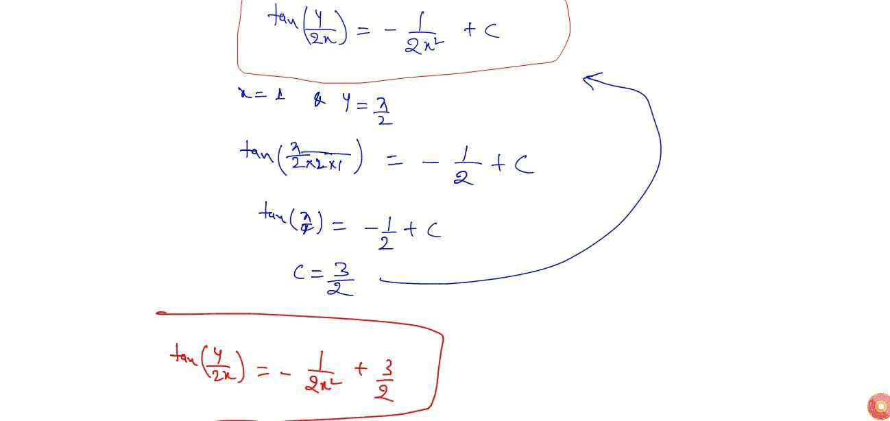 Solution for Find the particular solution of this differential