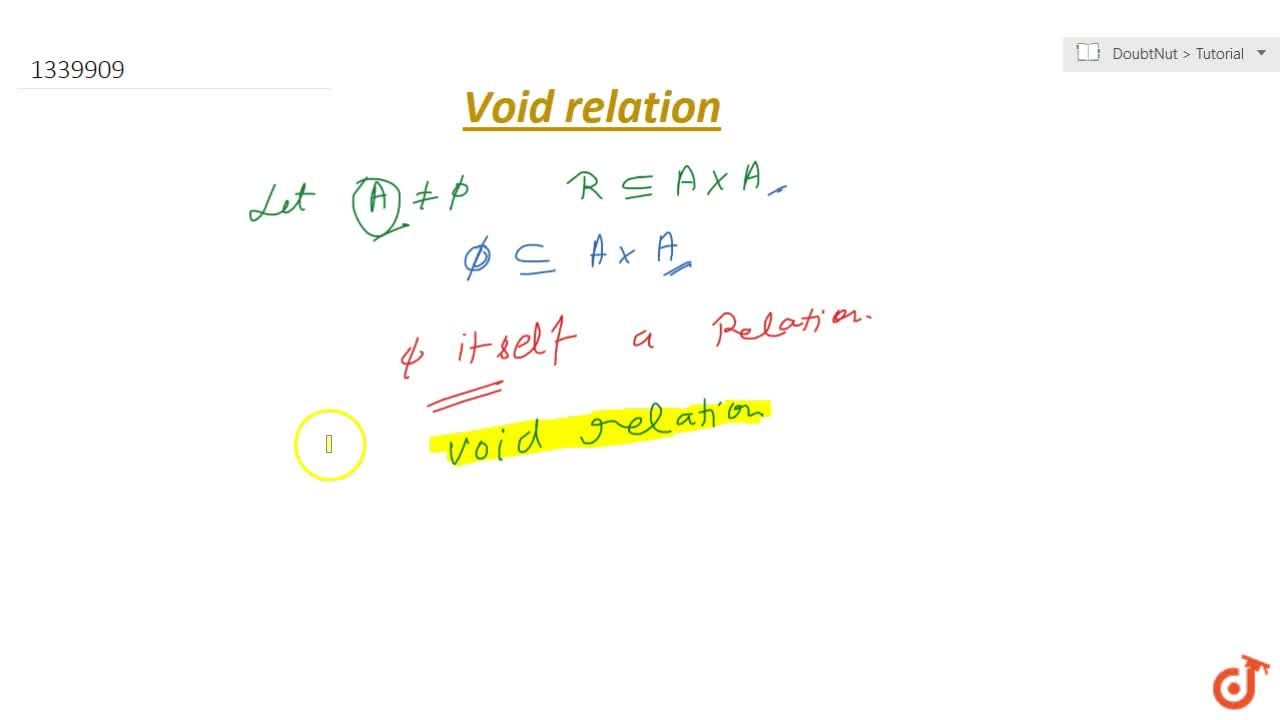 Solution for Void relation