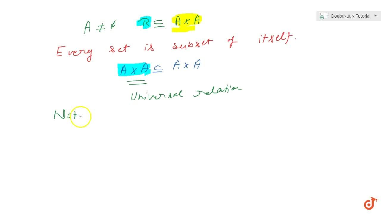 Solution for Universal relation