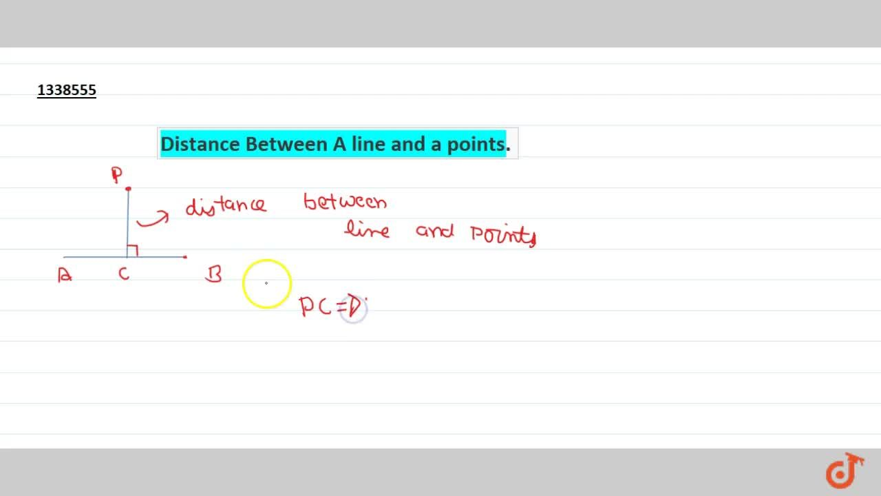Solution for Distance Between A line and a points