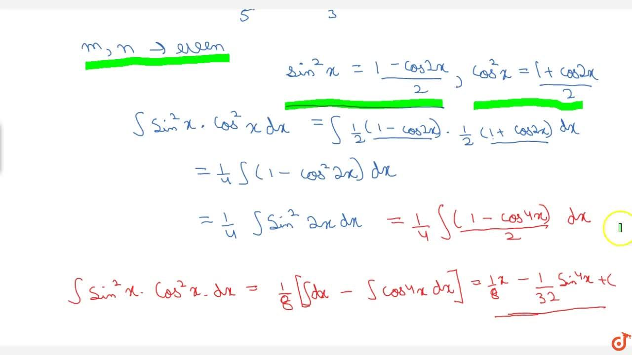 Integration of sin^m x cos^n x m n are integer