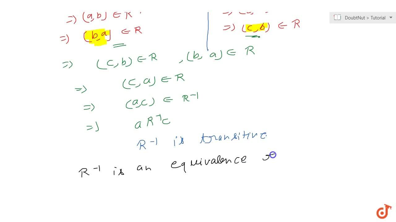 Solution for The inverse of an equivalence relation is an equva