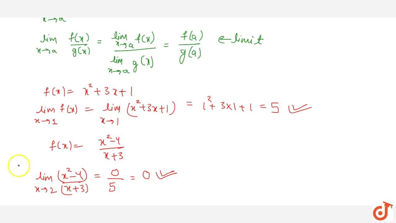 (i) Direct substitution