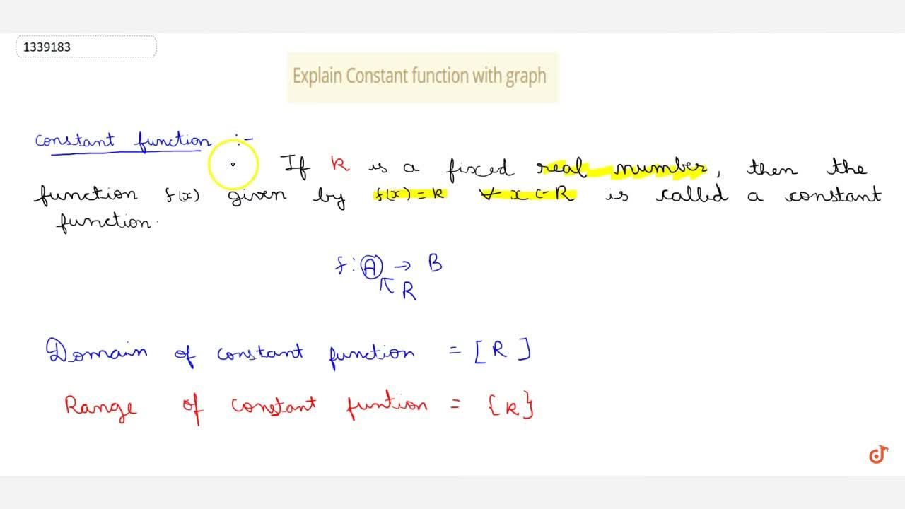 Explain Constant function with graph